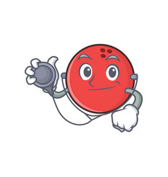 Doctor bowling ball character cartoon vector