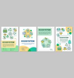 Ecosystem brochure template environmental vector