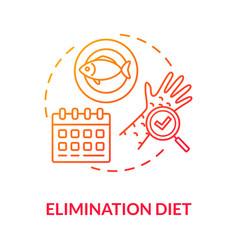 Elimination diet concept icon vector