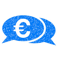 Euro chat grunge icon vector