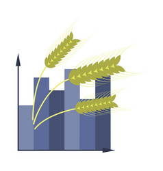 Flat icon on stylish background wheat infographics vector
