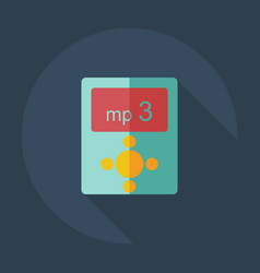 Flat modern design with shadow icons mp3 vector