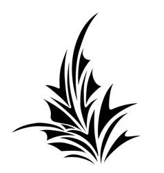 floral corner border decorative design element vector image