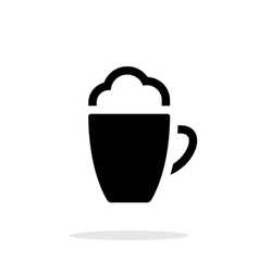 Foam coffee simple icon on white background vector