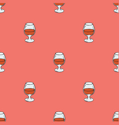 Glasses with brandy seamless pattern vector