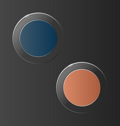 glassy circle icons on grey vector image