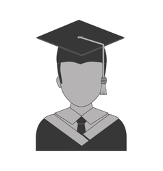 Graduation cap and boy icon University design vector image