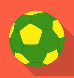 green soccer ball icon in flate style isolated on vector image