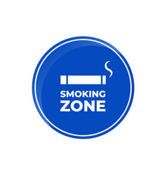 green square sign smoking area with reflection vector image