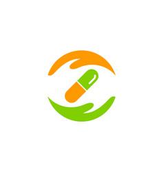 help medicine logo icon design vector image