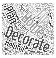 Helpful Home Decorating Tips Word Cloud Concept vector image