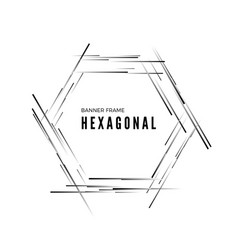 hexagonal abstract modern banner geometric shape vector image