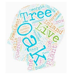 History Of Oak Trees Quercus Sp text background vector