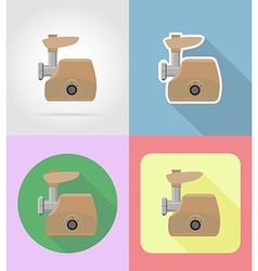 Household appliances for kitchen 10 vector