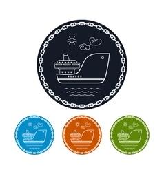 Icon cargo ship vector