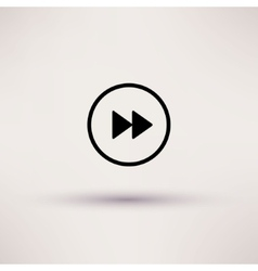 Icon of rewind Web Isolated vector