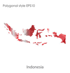 Isolated icon indonesia map polygonal vector