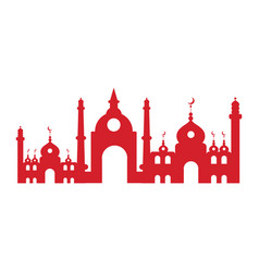 Isolated mosque silhouette vector