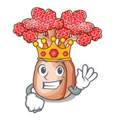 King bottle shaped tree on a cartoon vector