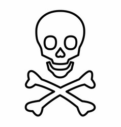 line skull icon vector image