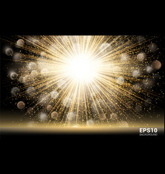 Luxury design gold explosion on black background vector