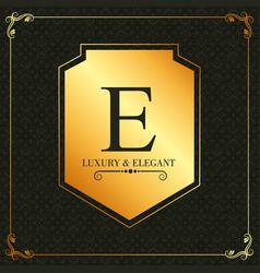 luxury elegant monogram design template golden vector image