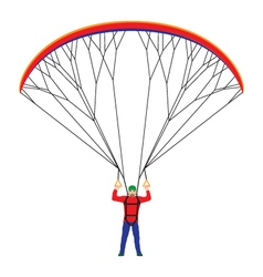Man with a paraglider vector