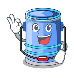okay cylinder bucket isometric of for mascot vector image