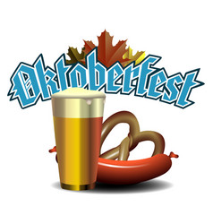 oktoberfest graphic design vector image