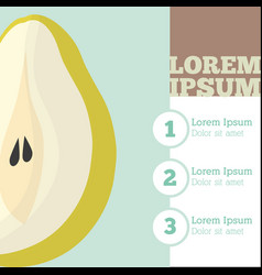 pear fruit infrographic design vector image