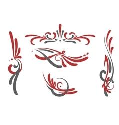 pinstriping ornaments set vector image