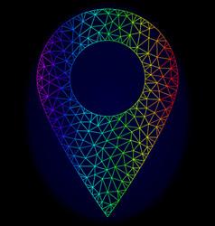 Polygonal 2d rainbow mesh local place vector