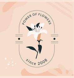 Power flowers emblem vector