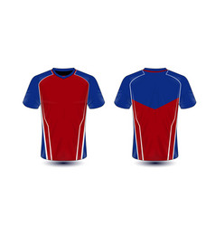 red blue and white layout e-sport t-shirt design vector image