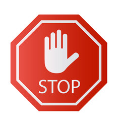 Red stop sign isolated on white background vector