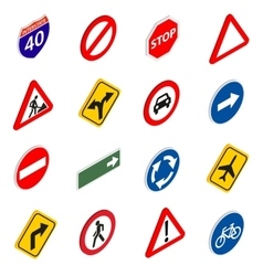Road Sign Set icons vector image