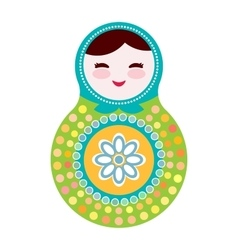 Russian dolls matryoshka on white background vector image