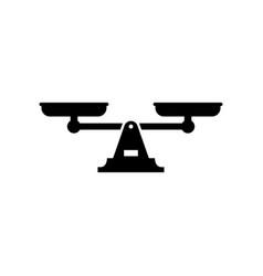 Scales or balance glyph icon vector