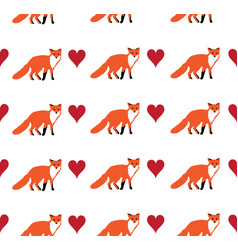 seamless fox background vector image