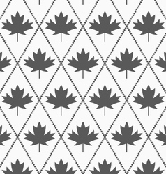 Shades of gray maple leaves vector image