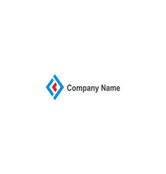 shape square construction company logo vector image