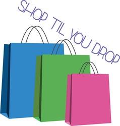 Shop Til You Drop vector image