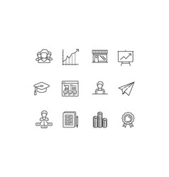 silhouette statups new business icon sets vector image