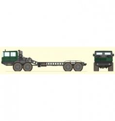 soviet tank truck vector image