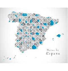 Spain map crystal style artwork vector