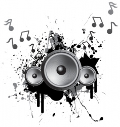 Speakers playing music vector