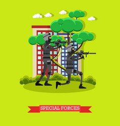 special forces in flat style vector image