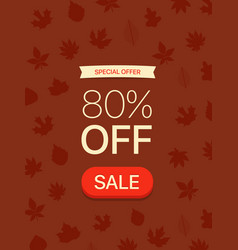 special offer concept 80 percent off vector image