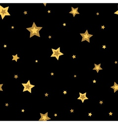 Stars seamless pattern gold black 3D vector image