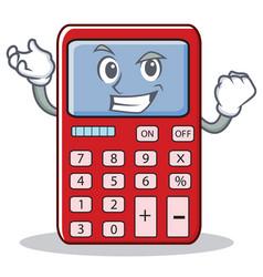 Successful cute calculator character cartoon vector